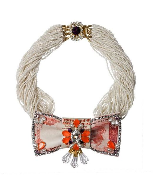 Bijoux De Famille | Orange Eccentric Taj Necklace | Lyst