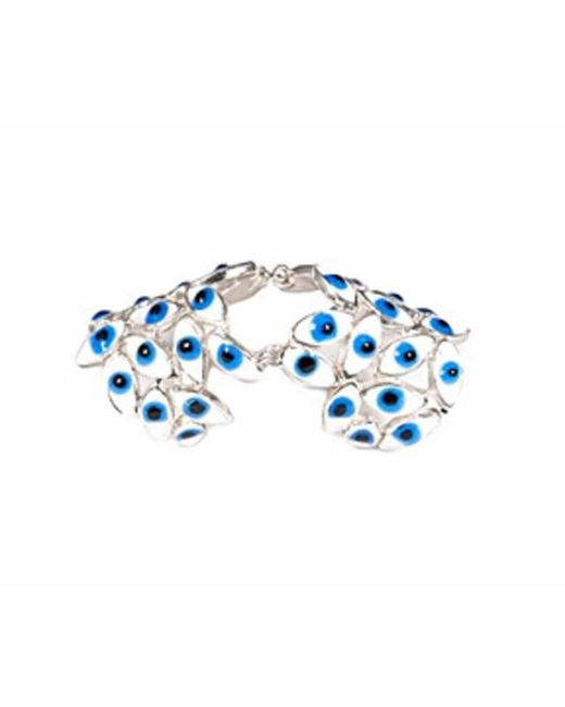 Bernard Delettrez | Metallic Articulated Silver Ring With Blue Eyes | Lyst