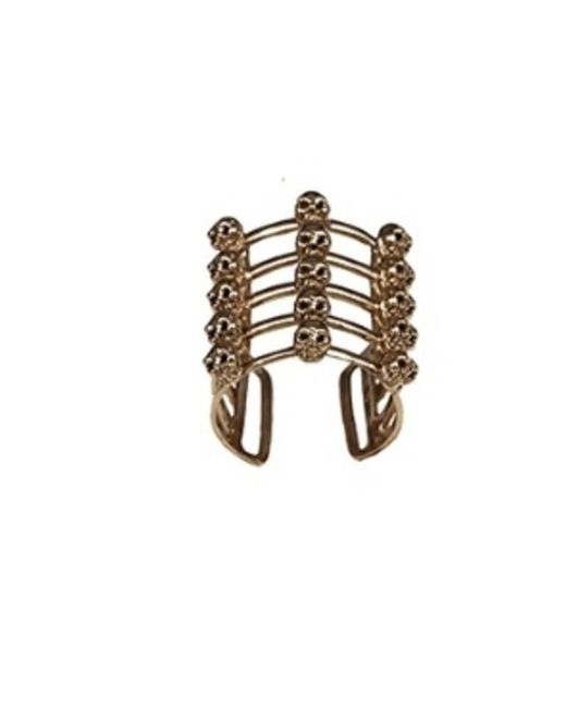 Bernard Delettrez - Metallic Cage And Skulls Bronze Ring - Lyst