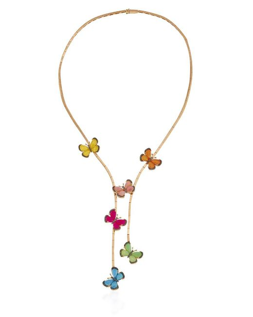 Christina Debs | Multicolor Wonderland Multi-hued Butterflies 18k Gold Necklace | Lyst