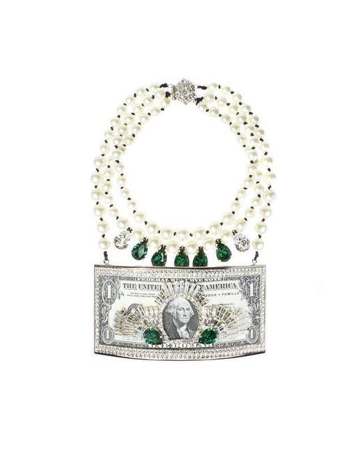 Bijoux De Famille | Green Million Dollar Plastron Necklace | Lyst