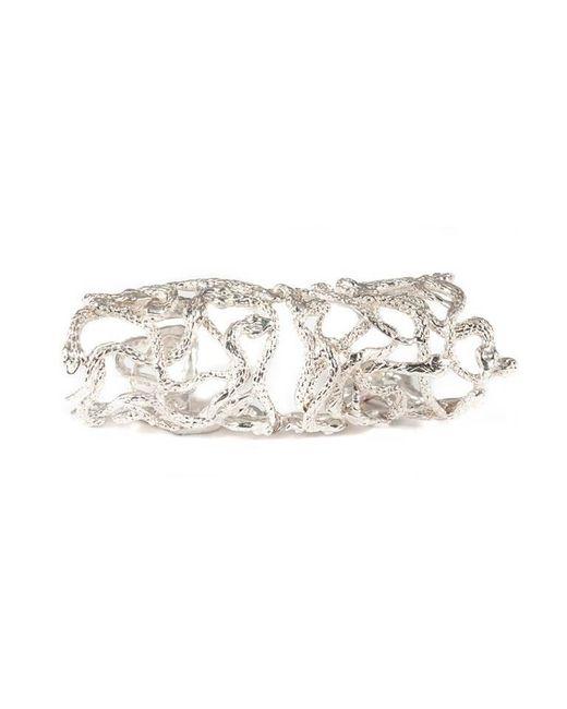 Bernard Delettrez | Metallic Snakes Articulated Silver Ring | Lyst