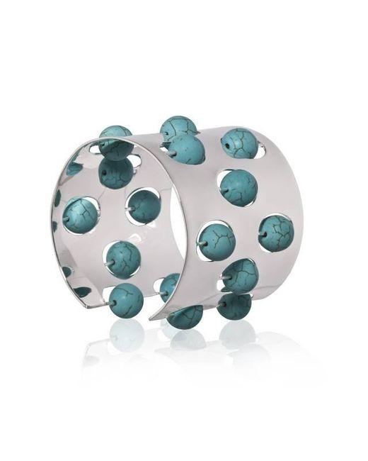 Yael Salomon | Metallic Greta 04 Silver And Turquoise Cuff | Lyst