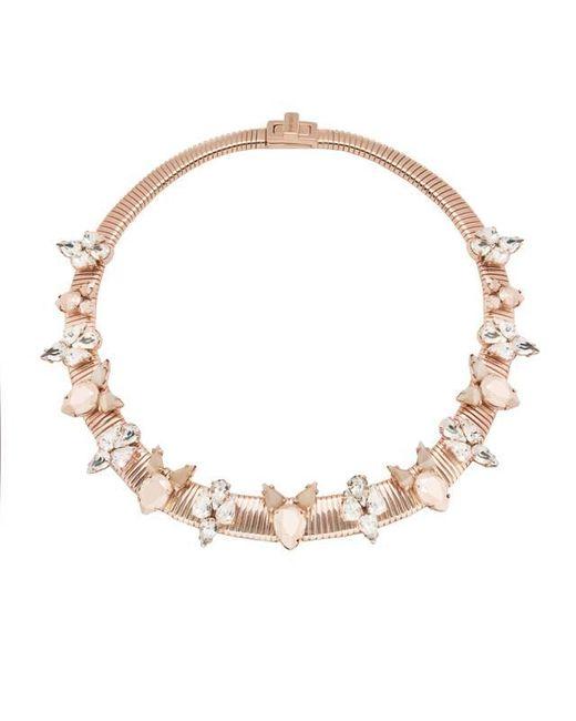 Ellen Conde | Pink Mia Rose Gold Necklace | Lyst