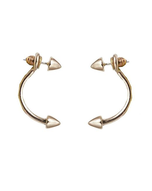 Bernard Delettrez | Metallic Bronze Double Stud Earrings | Lyst