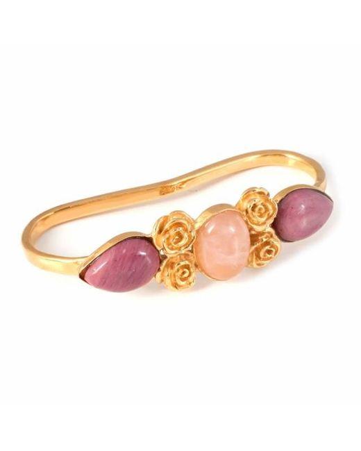 Leivan Kash | Pink Rose Haya Rose Quartz Hand Cuff | Lyst