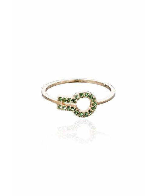 Liza Belachew | Metallic Magic Window Yellow Gold And Green Tsavorite Ring | Lyst