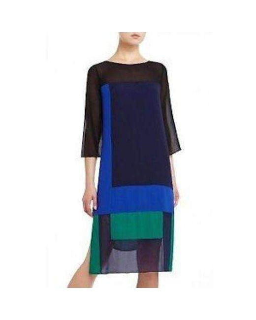 BCBGMAXAZRIA - Blue Bcbg Maxazria Runway Color Block Ivet Dress - Lyst