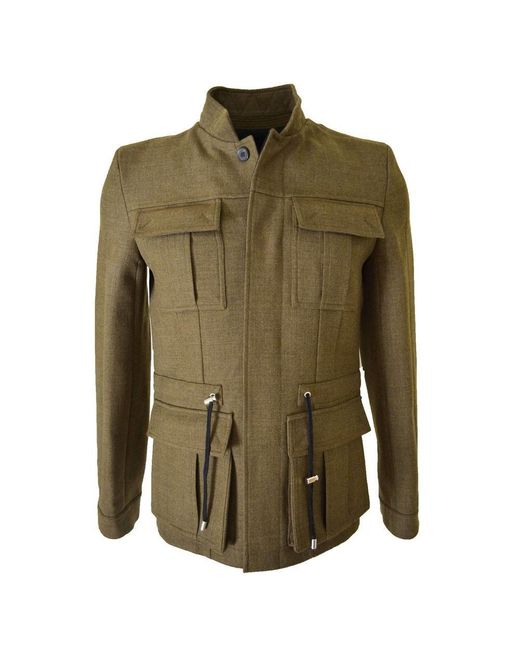 Balmain - Military Olive Green Basic Jacket for Men - Lyst