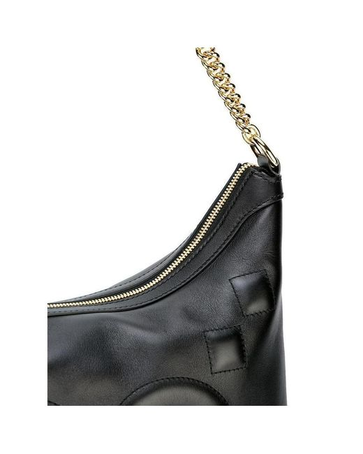 a78477b3786823 ... Gucci - Leather Tote With Embossed GG In Black - Lyst ...