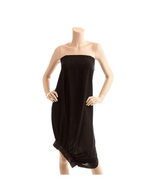 BCBGMAXAZRIA - Bcbg Maxazria Runway Strapless Black Cocktail Sequin Dress - Lyst