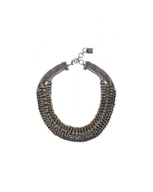 BCBGMAXAZRIA - Multicolor Bcbg Maxazria Stone And Thread Collar Necklace - Lyst