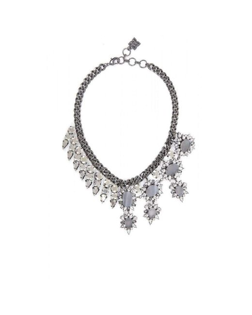 BCBGMAXAZRIA - Multicolor Bcbg Maxazria Half Gemstone Spiked Necklace - Lyst