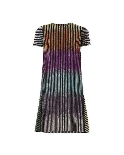 Marco De Vincenzo - Multicolor Degrade Stud Embellished Shift Dress - Lyst