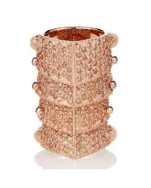 Vivienne Westwood - Multicolor Pink Copper Diamante Armour Gladiator Ring Sz M - Lyst
