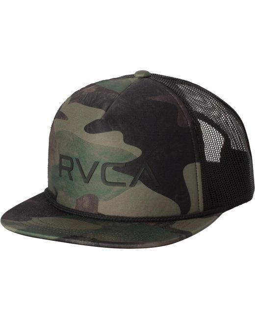 RVCA - Green Foamy Trucker Hat for Men - Lyst
