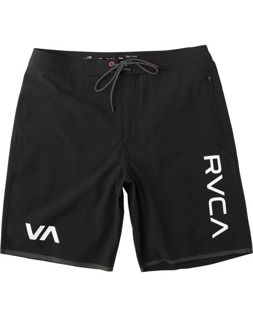 RVCA - Black Staff Iii Dual Layer Short for Men - Lyst