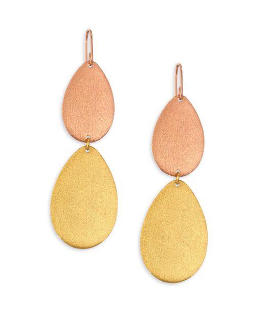 Stephanie Kantis | Metallic Dew Drop Two-tone Double-drop Earrings | Lyst