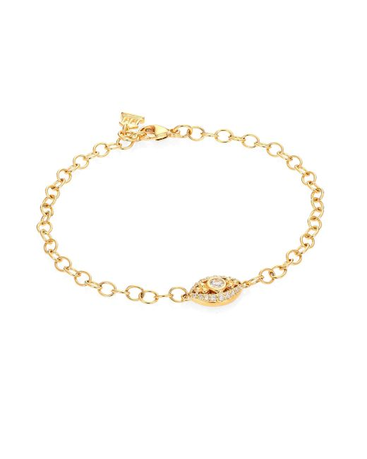 Temple St. Clair - Metallic Evil Eye Diamond & 18k Yellow Gold Bracelet - Lyst