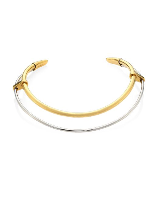 Alexander McQueen | Metallic Double Row Two-tone Choker | Lyst