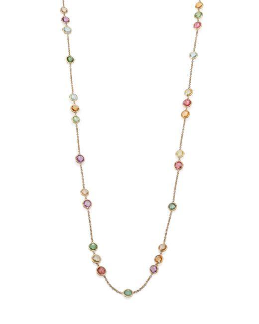 Marco Bicego | Metallic Jaipur Semi-precious Multi-stone & 18k Yellow Gold Long Station Necklace | Lyst