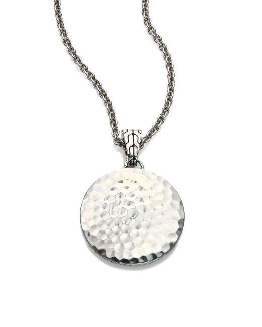 John Hardy - Metallic Palu Sterling Silver Pendant Necklace/22 - Lyst