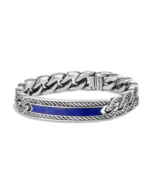David Yurman - Metallic Maritime Collection Lapiz Lazuli Sterling Silver Bracelet for Men - Lyst