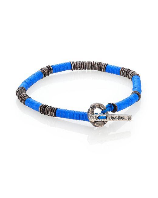 M. Cohen | Blue African Vinyl Silver Disc Bracelet | Lyst