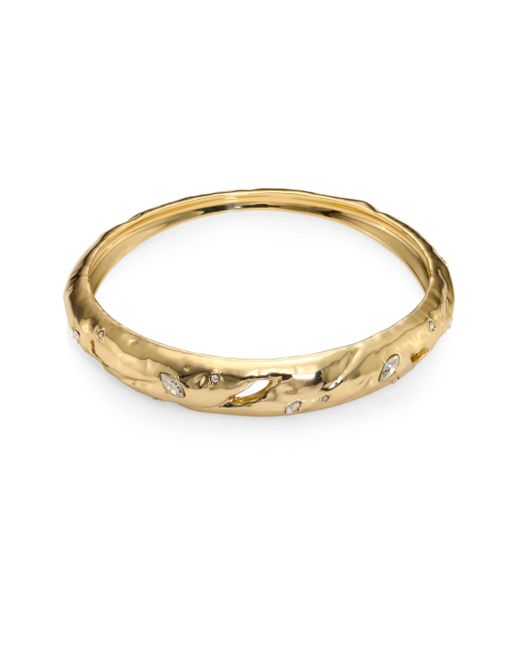 Alexis Bittar | Metallic Elements Rocky Tapered Crystal Bangle | Lyst