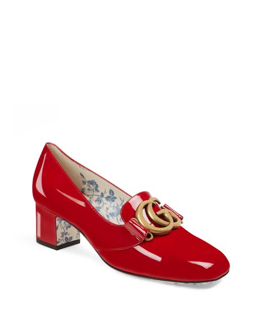 Gucci - Red Victoire Gg Pumps - Lyst