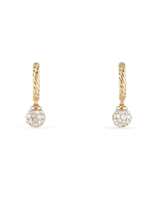 David Yurman - Metallic Solari Diamond 18k Gold Hoop Earrings - Lyst