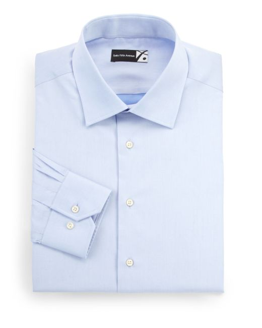 Saks Fifth Avenue | Blue Regular-fit Dress Shirt for Men | Lyst