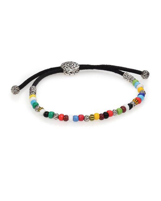 John Hardy | Multicolor Batu Classic Chain Sterling Silver & African Bead Bracelet | Lyst