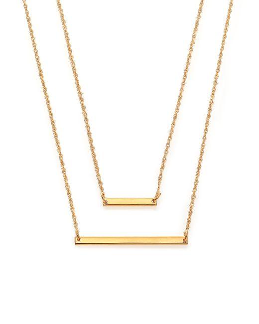 Jennifer Zeuner | Metallic Cynthia Bar Double-wrap Necklace | Lyst