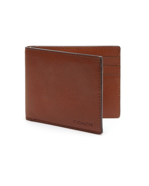 COACH | Brown Slim Billfold Id Wallet for Men | Lyst