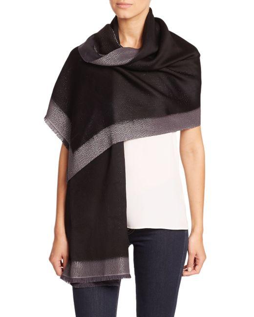 Bajra | Black Frame Silk & Cashmere Scarf | Lyst