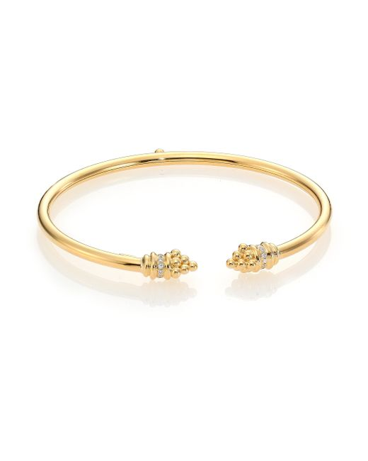 Temple St. Clair | Metallic Bellina Classic Gold Diamond & 18k Yellow Gold Bangle Bracelet | Lyst
