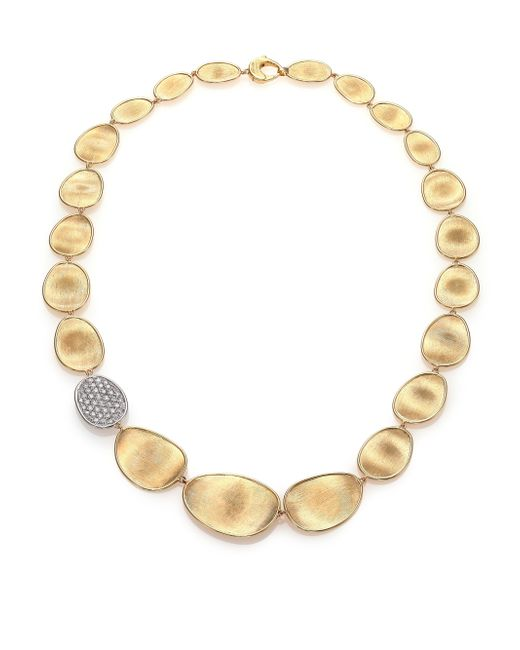 Marco Bicego | Metallic Lunaria Diamond & 18k Yellow Gold Single-station Collar Necklace | Lyst