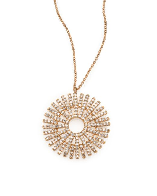 Astley Clarke | Metallic Rising Sun Diamond & 14k Yellow Gold Pendant Necklace | Lyst
