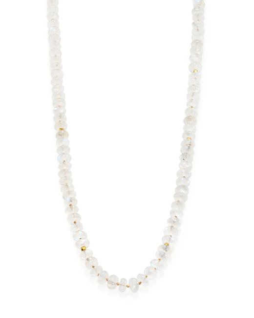 Lena Skadegard | White Meli Moonstone & 18k Yellow Gold Beaded Strand Necklace | Lyst