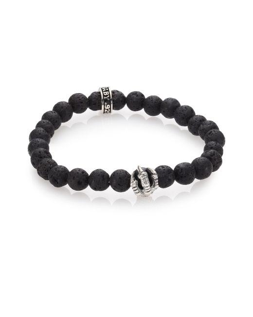 King Baby Studio   Black Lava Rock & Onyx Beaded Bracelet for Men   Lyst