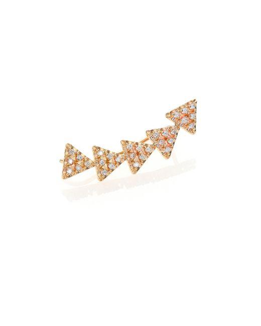 Zoe Chicco | Metallic Diamond & 14k Yellow Gold Triangle Single Ear Shield | Lyst
