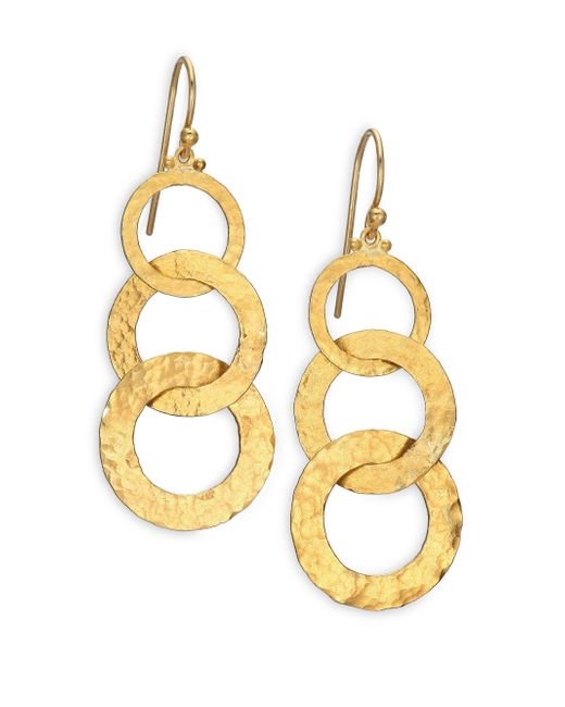Gurhan | Metallic Hoopla 24k Yellow Gold Infinity Triple-drop Earrings | Lyst