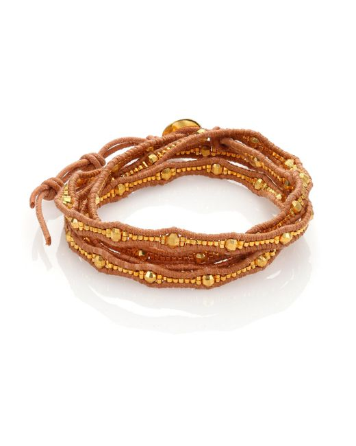 Chan Luu | Metallic Beaded Leather Multi-row Wrap Bracelet | Lyst