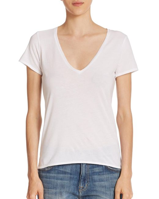 Feel The Piece | White Noemie Cotton V-neck Tee | Lyst