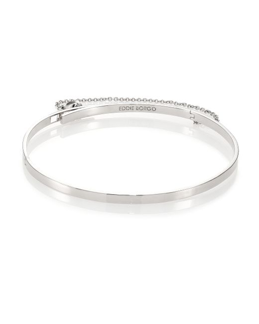 Eddie Borgo | Metallic Thin Safety Chain Choker Necklace | Lyst