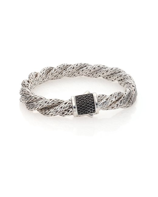 John Hardy | Metallic Classic Chain Black Sapphire & Sterling Silver Medium Twisted Bracelet | Lyst
