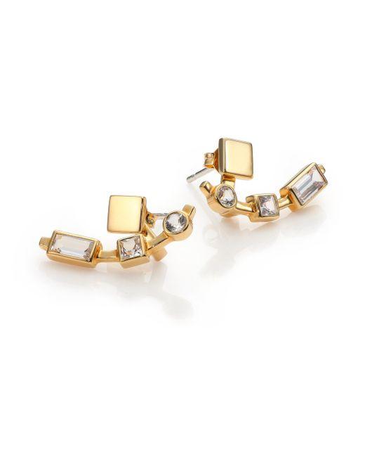 Elizabeth and James | Metallic Lewitt White Sapphire Ear Jacket & Stud Earrings Set | Lyst