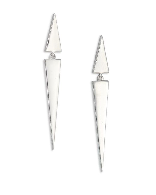 Elizabeth and James | Metallic Itten Triangle Drop Earrings | Lyst
