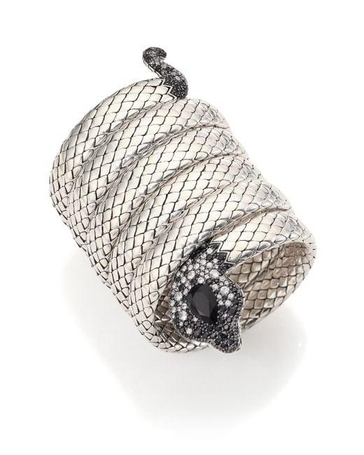 John Hardy | Metallic Double Coil Bracelet | Lyst